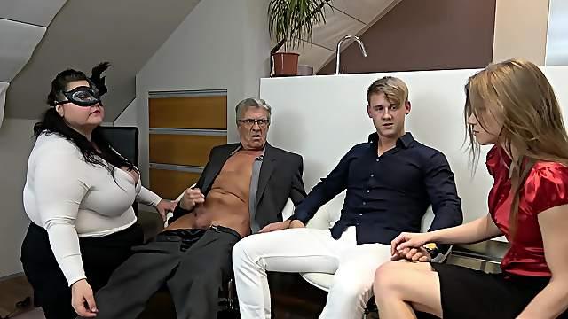 Young Bi Couple Threesome